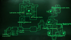 Vault 87 test labs map