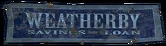 FO4 Weatherby Saving & Loan Logo