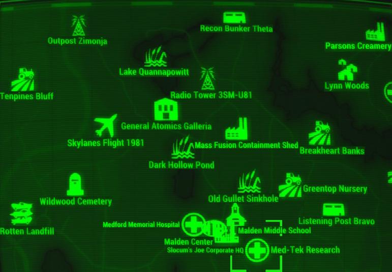 Image fo4 map med tek fallout wiki fandom for Floor 4 mini boss map
