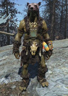 Super mutant bearskin outfit