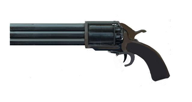 File:25 VOLCANOESQUE multi-chamber Handgun.jpg