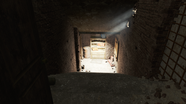 File:FO4 Cambridge Police station motor pool stairs.png