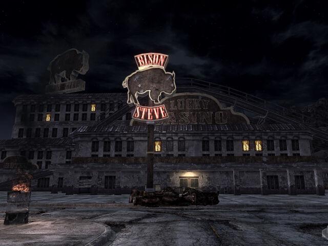 File:Bison Steve at night.jpg