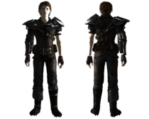 Leather armor reinforced female