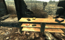 Interior ruined farm WNW of Super-Duper Mart