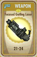 FoS Focused Gatling Laser Card