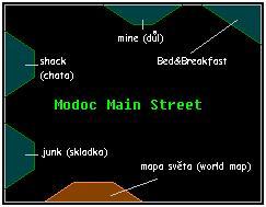Modoc mapa