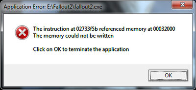Fallout2 Error (On Startup)