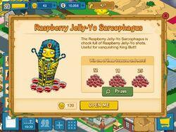 Raspberry jelly-yo sarcophagus