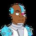 Facespace portrait cyborg