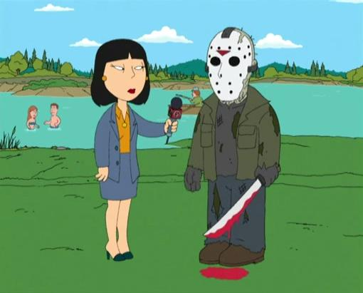 Image result for family guy jason voorhees