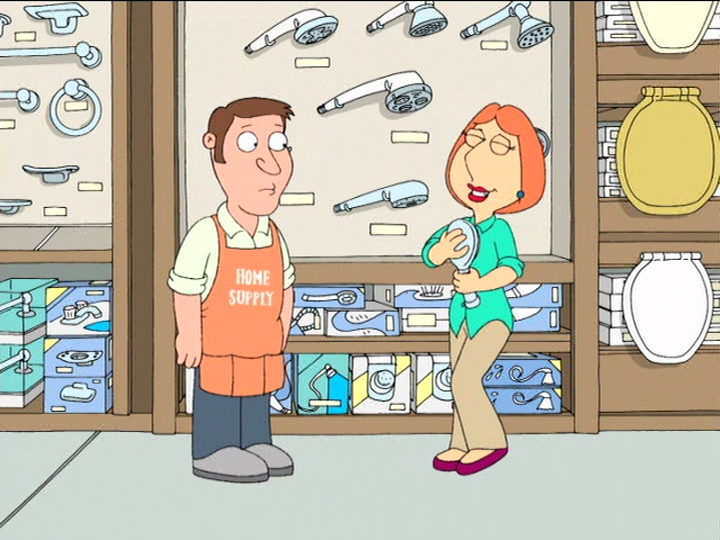 Lois Griffin In The Shower