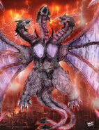 Godzilla battle royale queen ghidorah by avgk04-d8ahhq7