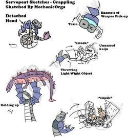 Servopent Sketches - Grappling