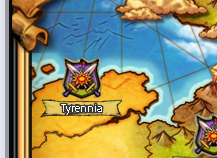 Tyrennia on the map