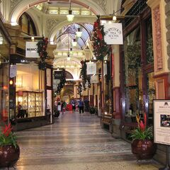The Arcade on Gunhuaver Street South, renowned for small jewellers and kitchen assortment stores.