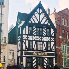 The George in Blossom Hill, a famous Tudor building near the Ambrose Hill/ Blossom Hill gate. One of its most compelling features is its original timber Tudor frontage, something little buildings of this type have. It is also in remarkable condition for a building of its type as, despite undergoing a structural repair in 1897, has never once even warped.