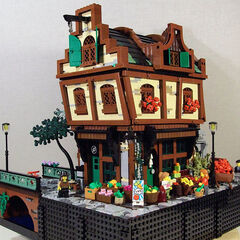 The Tudor Green Grocers, deviating from Market Stall Square