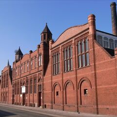 The former factory of Quafer Lane which, despite sustaining bomb damage, was restored.