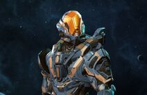 The armor Chandler received upon the Infinitys return to requiem
