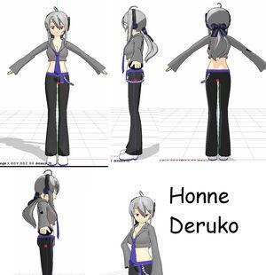 MMD New Model Honne Deruko by Ariasu Sama