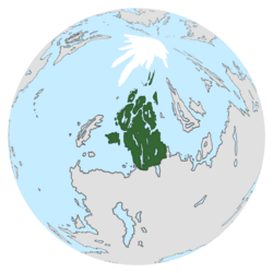 Location of Scandavia on the globe.