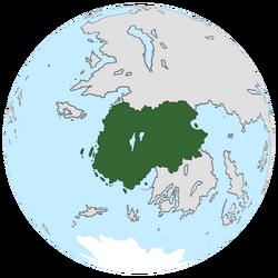 Location of Assasynia on the globe.