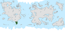 Location of Alkyria on the world map.