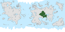 Location of Equaland on the world map.