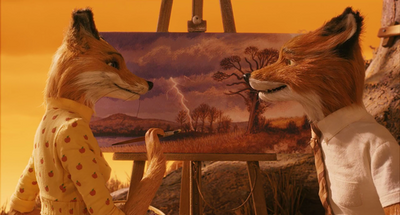 Mrs Fox painting