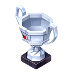 Silver Paper Trophy