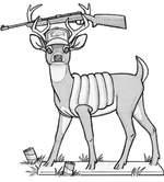Majestic north elanthian redneck deer
