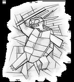 Cubist turtle