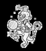 Semitary dancing monkey