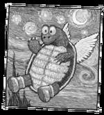 Impressionable turtle koopa
