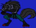 Territorial Talbain Dark Wolf