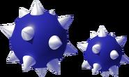 Blue Spiked Balls Art