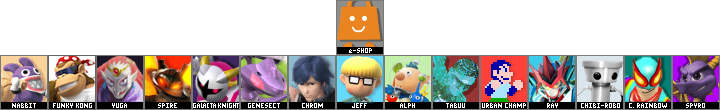 Super Smash Bros. Golden Eclipse DLC -1 Roster