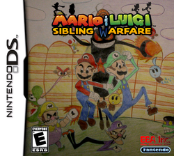 Mario & Luigi Sibling Warfare New Boxart