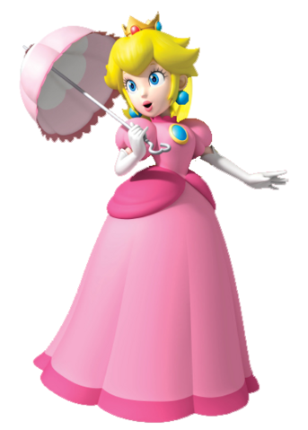 File:Peach with parasol (Super Mario Bros SS).png