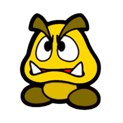 File:Paper Golden Goomba.png