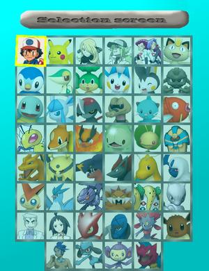 Pokékart 3DS Selection Screen