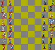 Amiibo Chess Speacial Mario Edition Board