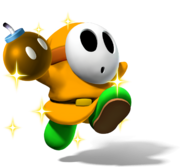 Gold Shy Guy with Gold Bomb