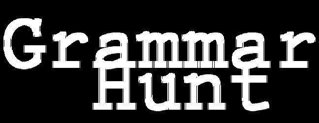 Grammar Hunt