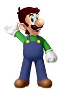 Luigi hatless