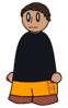 Pants Orange Pockets Generic