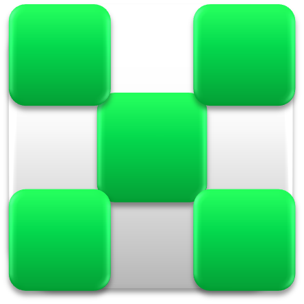 File:White-Green Checkered Block.png