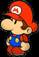 Paper Baby Mario