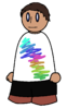 Shirt 3D Rainbow Scribble Generic